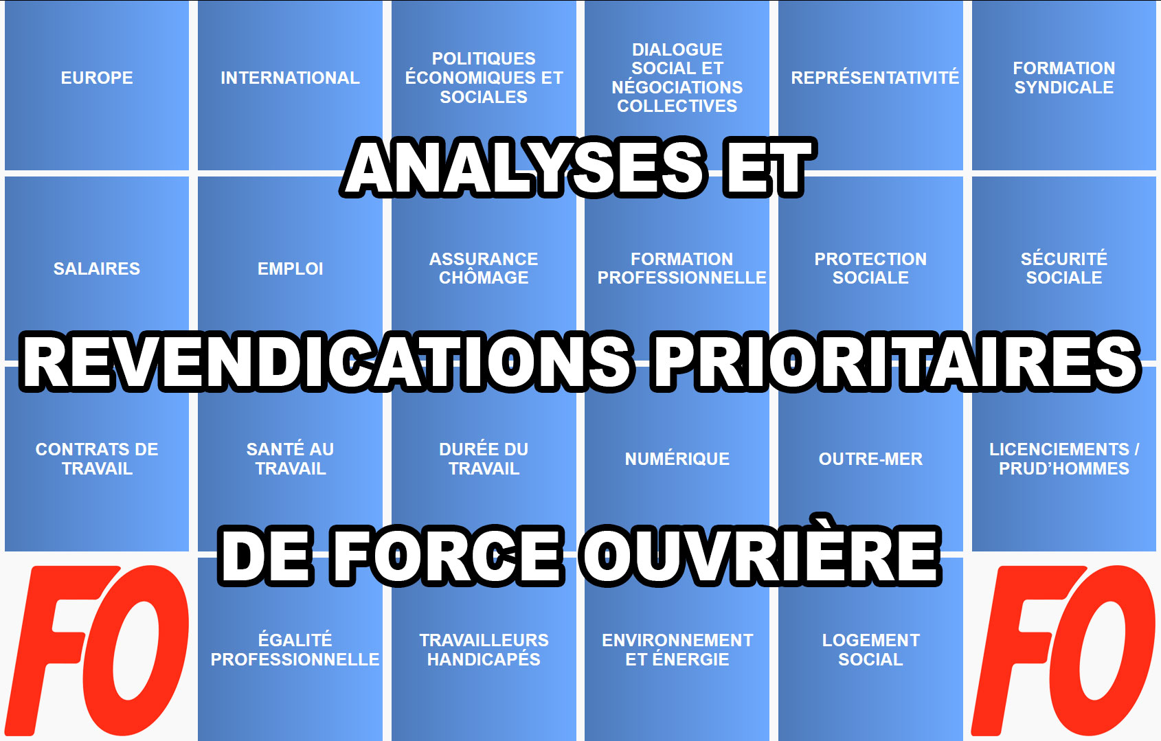 analyses et revendications FO